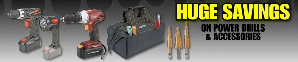 Huge Savings on Drills & Accessories