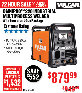 View OmniPro?? 220 Industrial Multiprocess Welder with 120/240 Volt Input