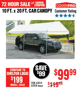 View 10 ft. x 20 ft. Portable Car Canopy