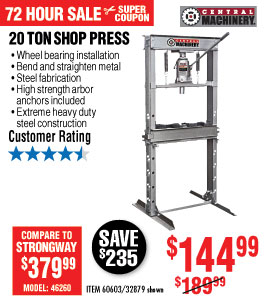 View H-Frame Industrial Heavy Duty Floor Shop Press