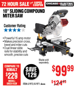 View 10 in. Sliding Compound Miter Saw