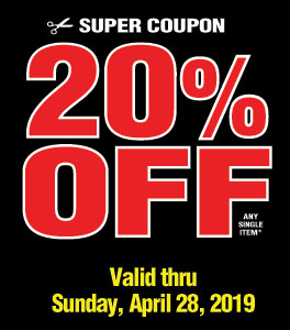 View 20% off 1 item