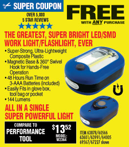 View Ultra Bright LED Portable Worklight/Flashlight