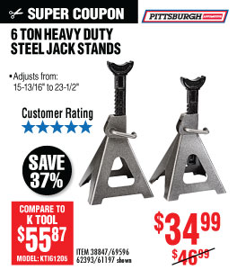 View 6 ton Steel Jack Stands