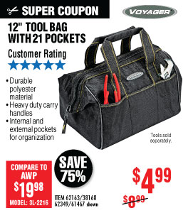 View 12 in. Tool Bag with 21 Pockets