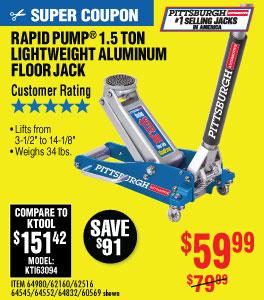View 1.5 Ton Aluminum Racing Floor Jack with RapidPumpR