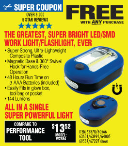 View Ultra Bright LED Portable Worklight/Flashlight