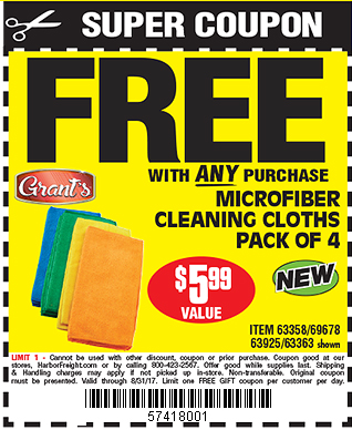 Microfiber Cleaning Cloths 4 Pk.