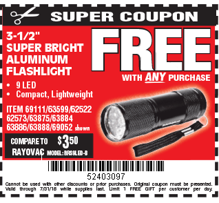 3-1/2 in. Mini Flashlight