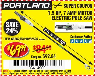 7 Amp Electric Pole Saw