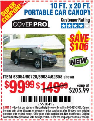 Portable car canopy