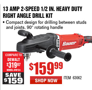 13 Amp 2-Speed 1/2 in. Heavy Duty Right Angle Drill Kit