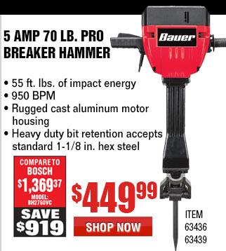 15 Amp 70 Lb. Pro Breaker Hammer