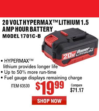 20V Max 1.5 Ah Bauer Battery