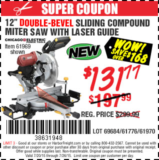 Double-bevel compound miter saw