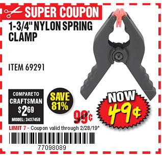 1-3/4 in. Nylon Spring Clamp