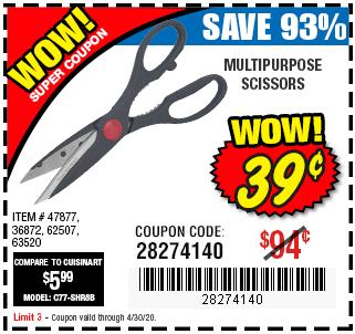 WOW Super Coupon Multipurpose Scissors