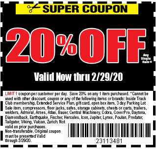 harbor freight coupons 20 off 2020