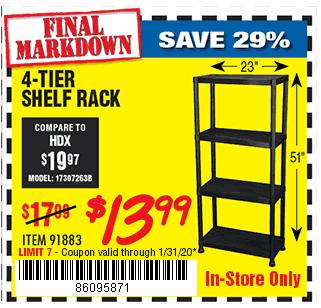 4-Tier Shelf Rack