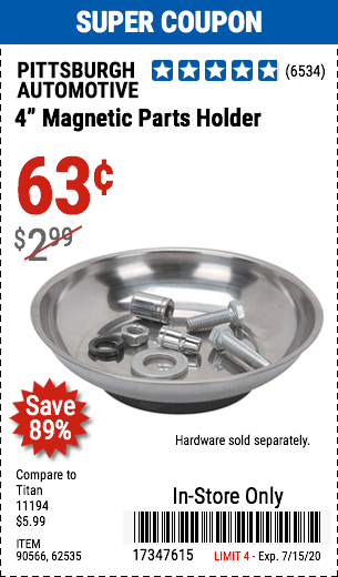 4 in. Magnetic Parts Holder