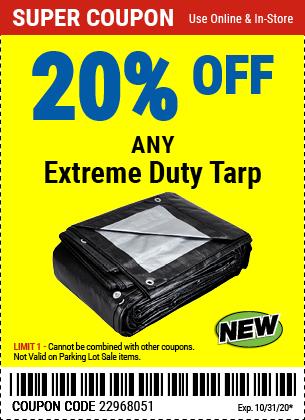 20% off Tarps Extreme Duty (3skus)