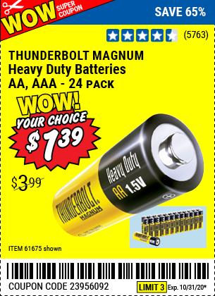 Heavy Duty Batteries, 24 Pk.