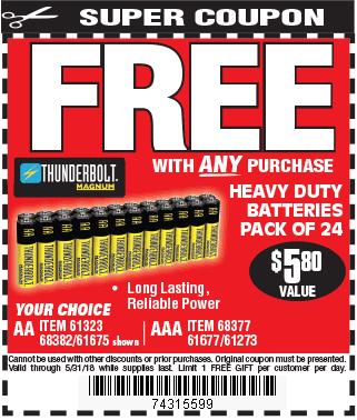 AAA & AA Heavy Duty Batteries 24 Pk