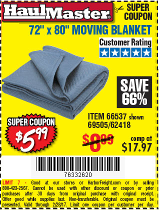 72 in. x 80 in. Moving Blanket