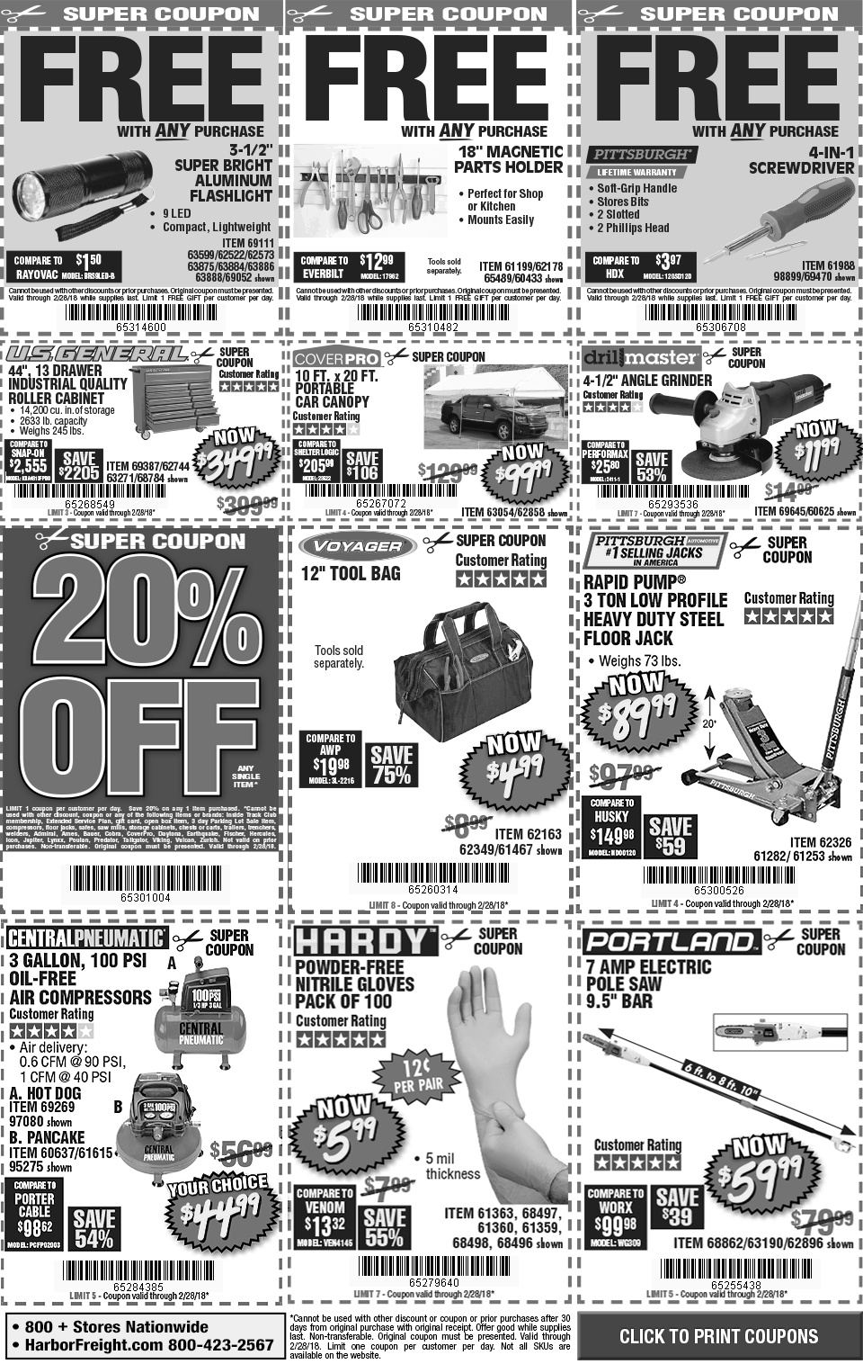 Digital savings and coupons from harbor freight click to print coupons fandeluxe Gallery