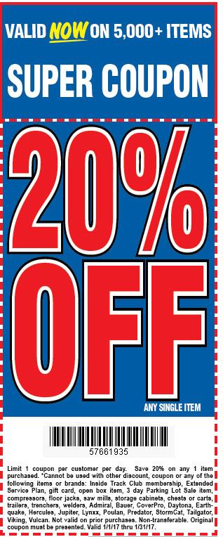 25% off any single item