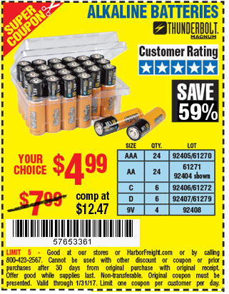 AAA Alkaline Batteries 24 Pk