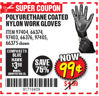 Polyurethane Coated Nylon Work Gloves