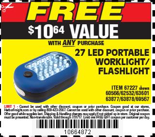 27 LED Portable Worklight/Flashlight