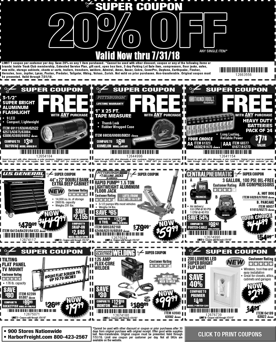 It is a graphic of Candid Harbor Freight Super Coupon Printable