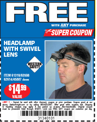 Free Swivel Lens Headlamp