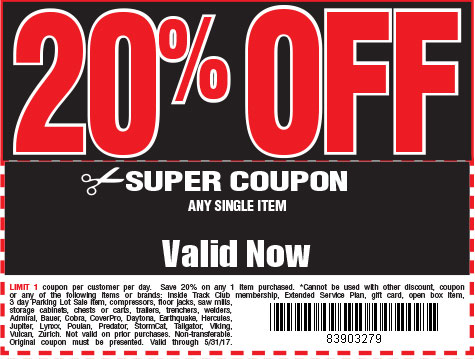 20 % off coupon