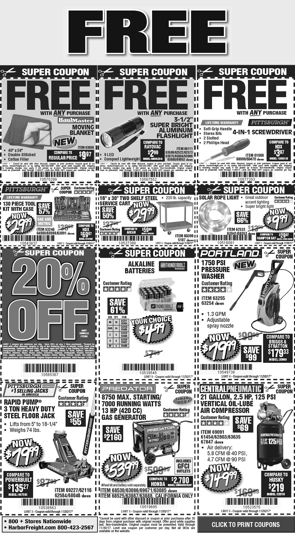 Digital Savings and Coupons from Harbor Freight – Coupon Disclaimer