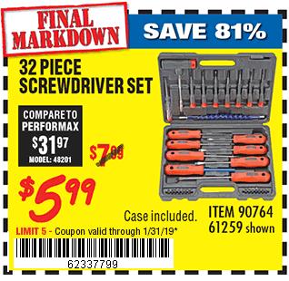 32 Pc Screwdriver Set