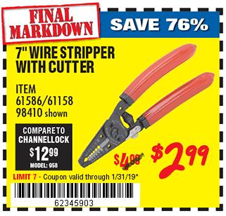 7 in. Wire Stripper with Cutter