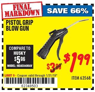 Pistol Grip Blow Gun