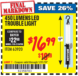 450 Lumen LED Trouble Light