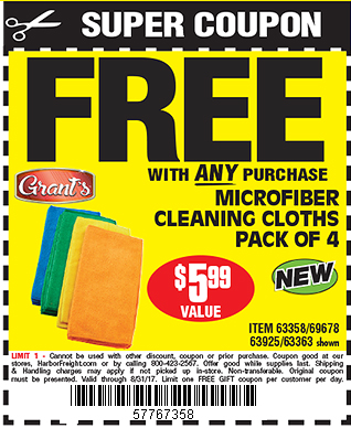 Microfiber Cleaning Cloths 4 Pk.