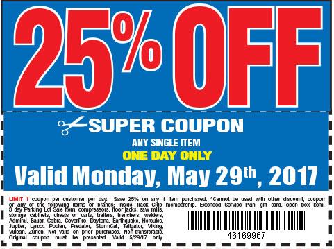 25 % off coupon