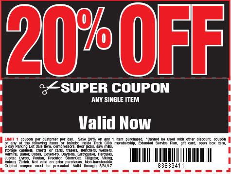 20 % off coupon