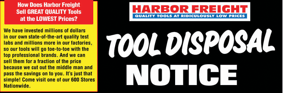 Shop Harbor Freight for Quality Tools