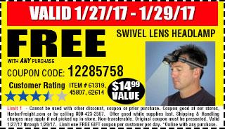 Swivel Lens Headlamp