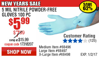 5 mil Nitrile Gloves