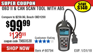 Professional OBDII Scan Tool with ABS