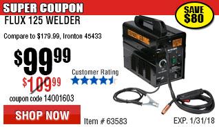125 Amp Flux Welder