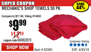 Mechanic's Shop Towels 50 Pk.
